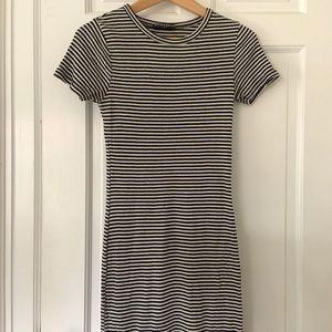 Brandy Melville black and white stripe dress